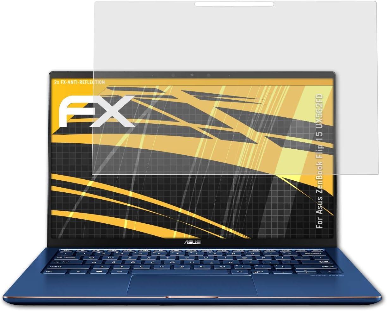 3X entspiegelnde und sto/ßd/ämpfende FX Folie 49,2 x 36,9mm atFoliX Panzerfolie kompatibel mit Standard-Display 2,4 Zoll Schutzfolie
