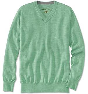 55739bfe304 Orvis Italian Merino Wool V-neck Waistcoat, Navy, Small: Amazon.co ...