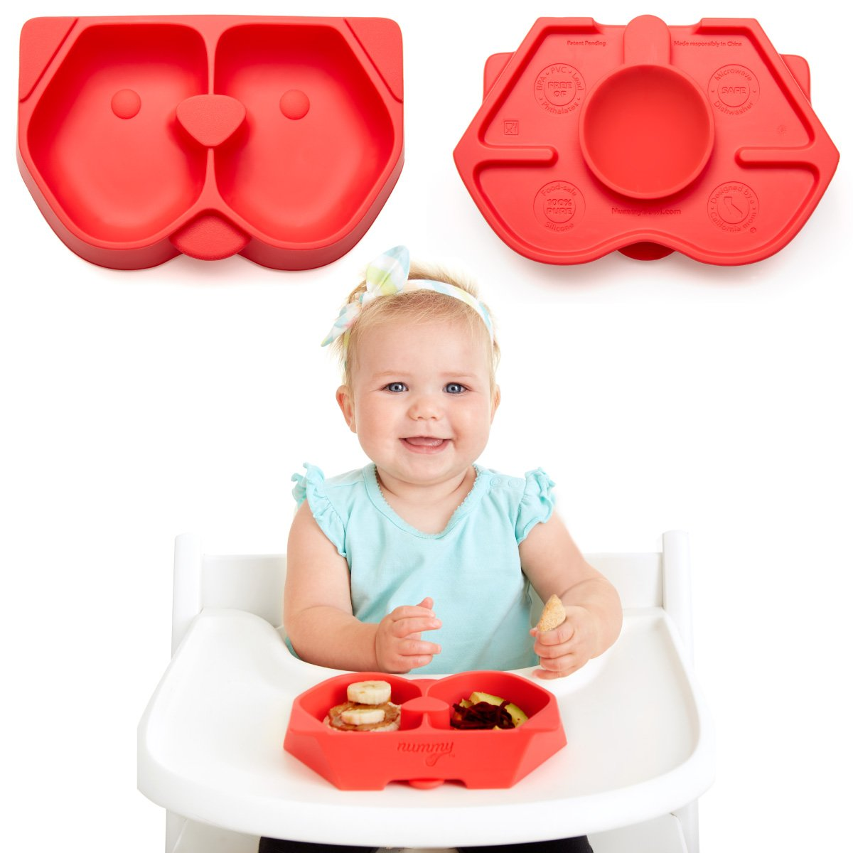 NUMMY Bowl - Pure Silicone Bowl with Hidden Suction Cup for Babies and Toddlers | Great Baby Gift | BPA and Phthalate Free | Microwave and Dishwasher Safe | Puppy Design Drink Tank Ltd.