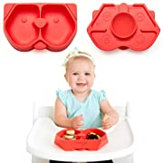 NUMMY Bowl - Pure Silicone Bowl with Hidden Suction Cup for Babies and Toddlers | Great Baby Gift | BPA and Phthalate Free | Microwave and Dishwasher Safe | Puppy Design