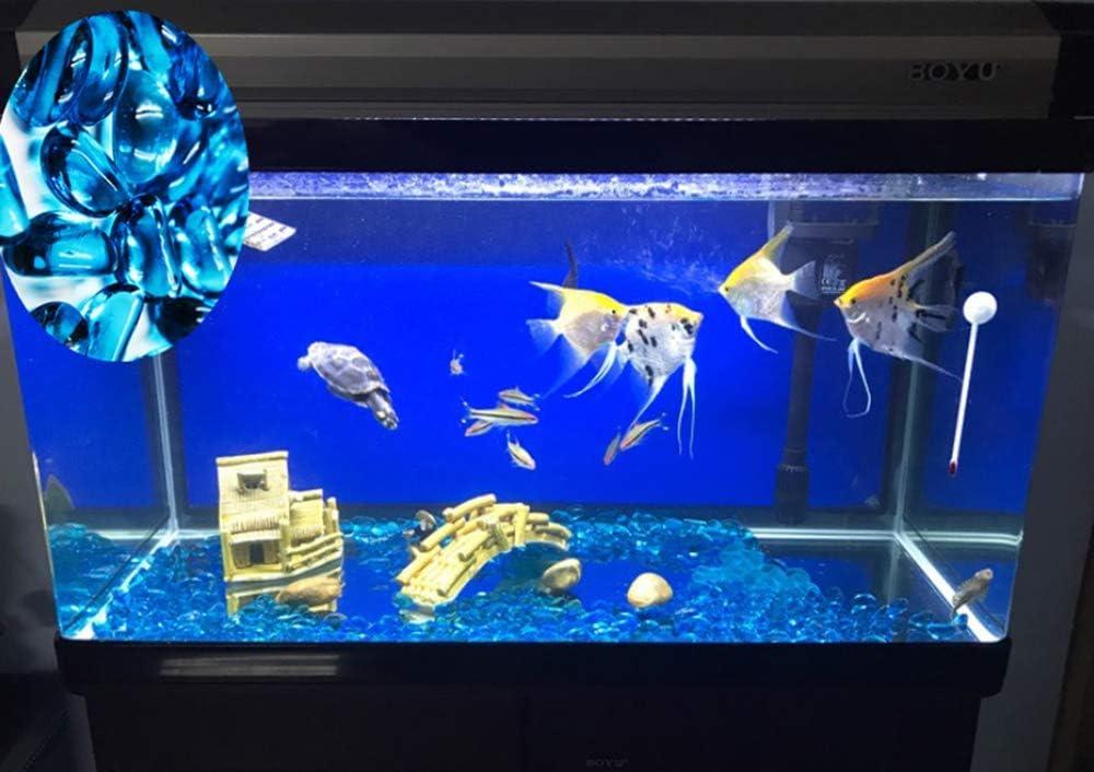0,5/Kilogram di Roccia Ghiaia Enough Decorativo Gravel Pebbles Gem ZYMY Gorgeous Aquarium Decorato con Perle di Vetro Decorazioni per Acquario Acquario