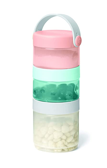 Skip Hop Grab & Go Stackable Baby Formula to Food Container Set, Multi-Color