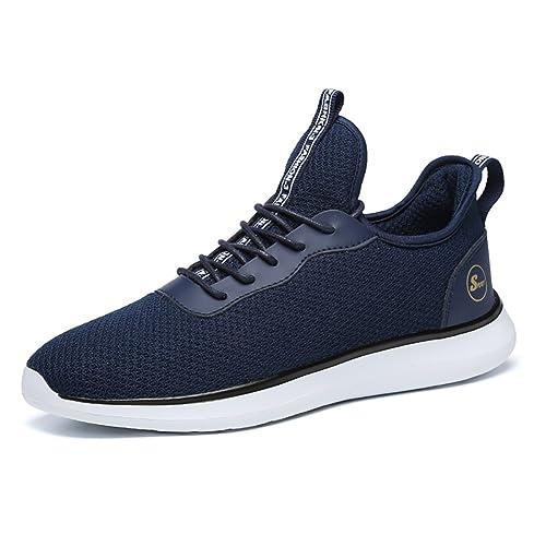 reputable site 8a8a2 5ea52 Elaphurus Uomo Scarpe da Running Basse Fitness Sportive Shoes Sneakers (Blu  EU39)