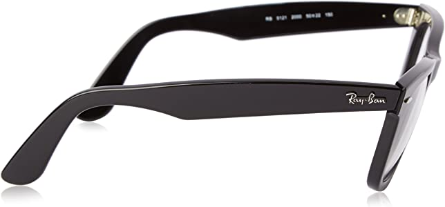 a11e3498899 RX 5121 eyeglasses. Ray-Ban Unisex RX5121-2000 Black Frame Wayfarer Square 50mm  Eyeglasses