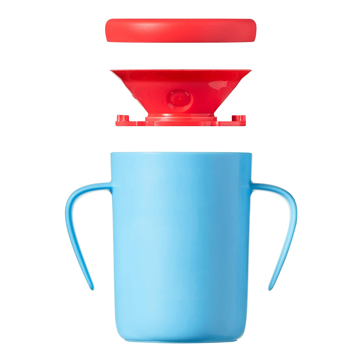 2-pack Tommee Tippee Easiflow 360 Degree Spill-Proof Toddler Cup with Handles and Travel Lid Aqua//Teal Aqua//Teal one-piece valve 12 months+