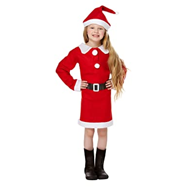CHRISTMASSHOP Christmas Shop - Disfraz Infantil de Mamá Noel (7-9 ...