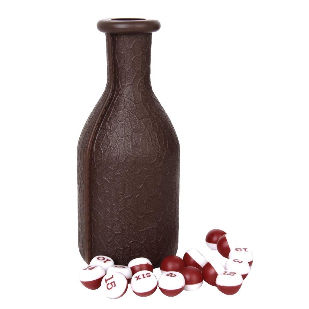 1pc Billar Dados Kelly Pool Botella Con 16 Bolas Numeradas Tally Guisantes Genérico
