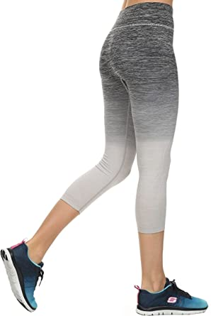 Ombre Activewear Yoga Capri Leggings at Amazon Women's Clothing store: