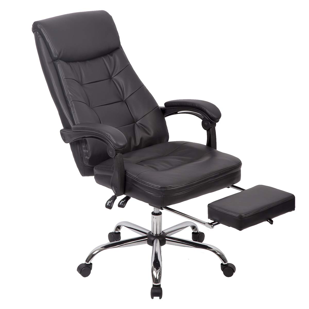 Charmant Amazon.com: Recliner Office Chair PU High Back Executive Task Desk Racing  Chair: Kitchen U0026 Dining
