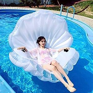 ZLYFA Piscina Gonfiabile di Bianco Shell per La Fila di Galleggiamento dell'Acqua della Chaise-Lounge della Sedia 2 spesavip