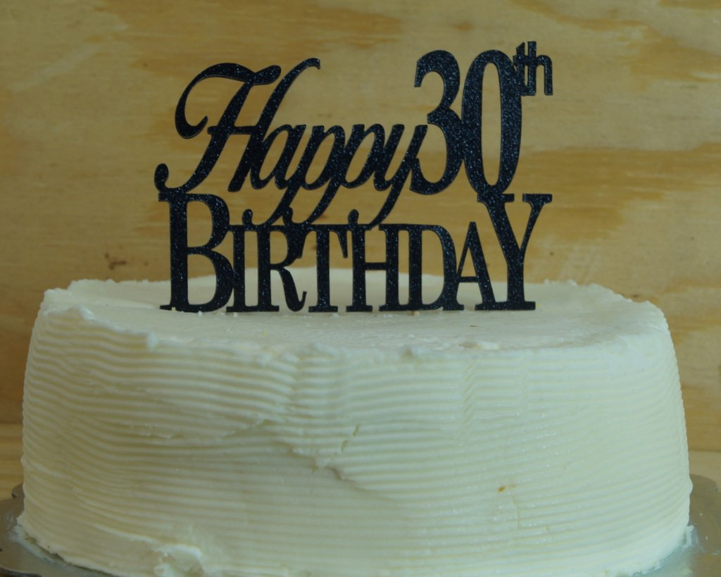 Amazon Black Happy 30th Birthday Cake Topper Kitchen Dining