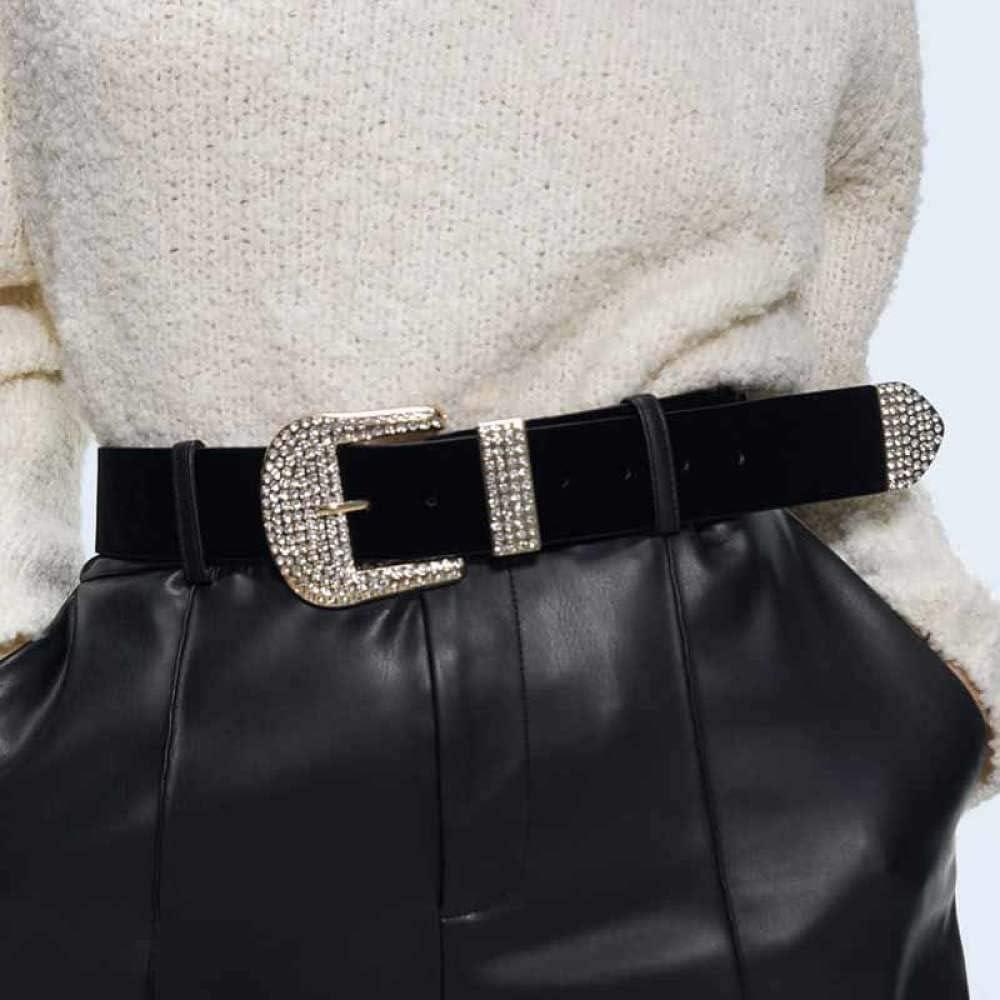 OPXZPM Ceinture femme Maxi ceinture en métal baroque en cristal pour femmes Accessoires de taille à la mode en strass Fête de mariage Style 29