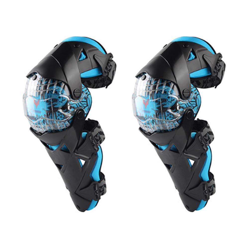 DAYIMIYA Genouill/ère Moto Cross Protection Genoux Tibia /Équipement Professionnel Adulte Homme ou Femme Kit De Protection Adulte 1 Paire,White