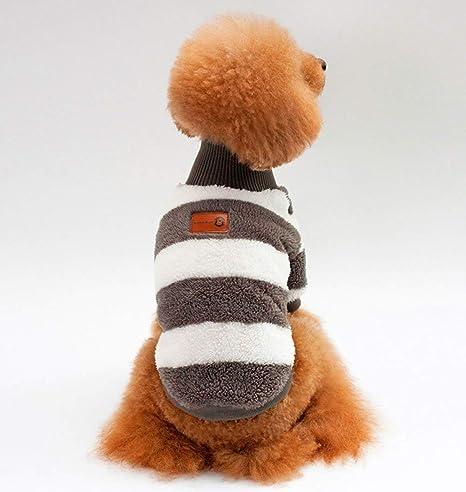 Andre Mascotas Ropa para Gatos y Perros Caliente el otoño Abrigo de Invierno Coral Fleece Ropa