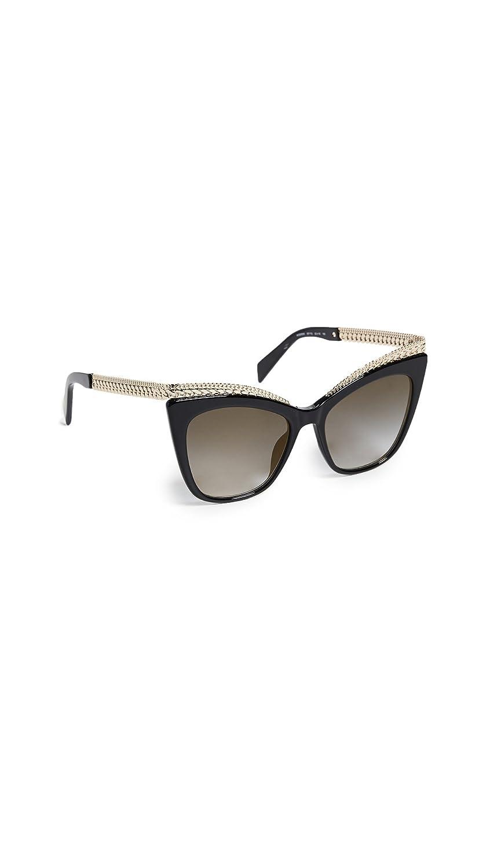 Moschino Womens Chain Cat Eye Sunglasses