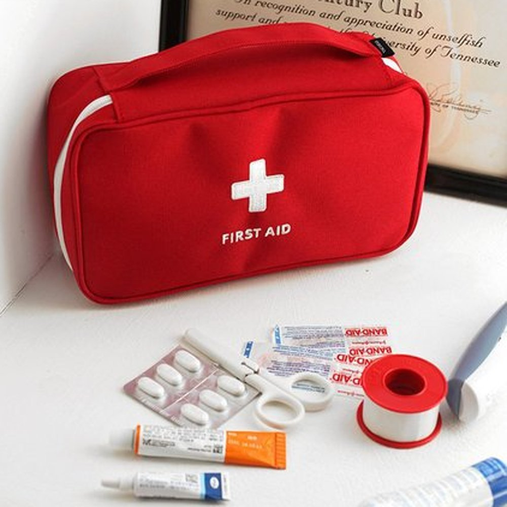 YunZyun Portable First Aid Kit Medical Bag Survival First Aid Kit for Home and Outdoor Emergency Surviva (Red)