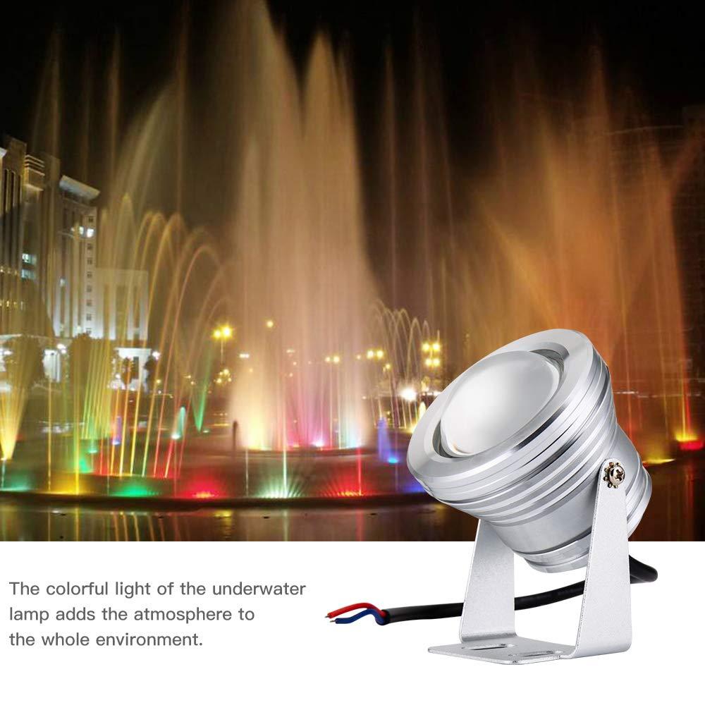 Garten Teichbeleuchtung IP65 Wasserdicht f/ür Pools Unterwasserleuchte Warmwei/ß Unterwasser Licht LED 10W Springbrunnen Dekoration Licht