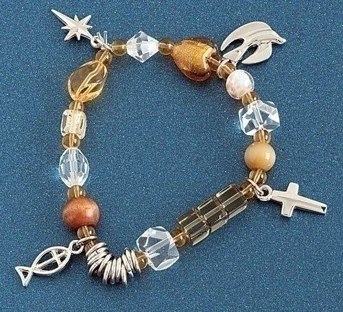 Roman Inc. NEW Christ's Story™ Beaded Bracelet Large -7 1/2
