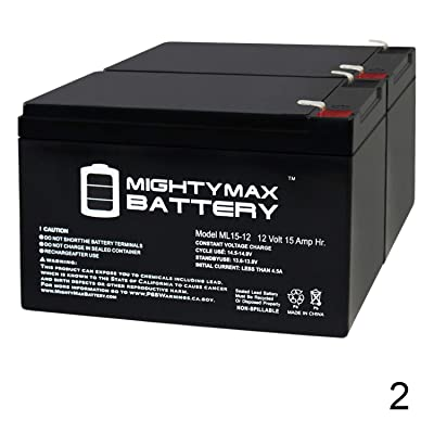 Mighty Max Battery ML15-12 12V 15Ah F2 Bladez XTR Comp 450 Scooter Battery - 2 Pack Brand Product : Sports & Outdoors