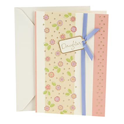 Amazon Hallmark Birthday Greeting Card To Daughter Floral