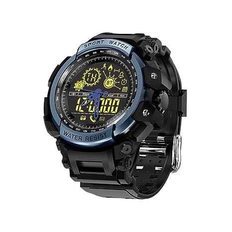Pawaca LEMFO Reloj Inteligente Negro Natación Digital Relojes para Deportes al Aire Libre 5ATM Impermeable Monitor