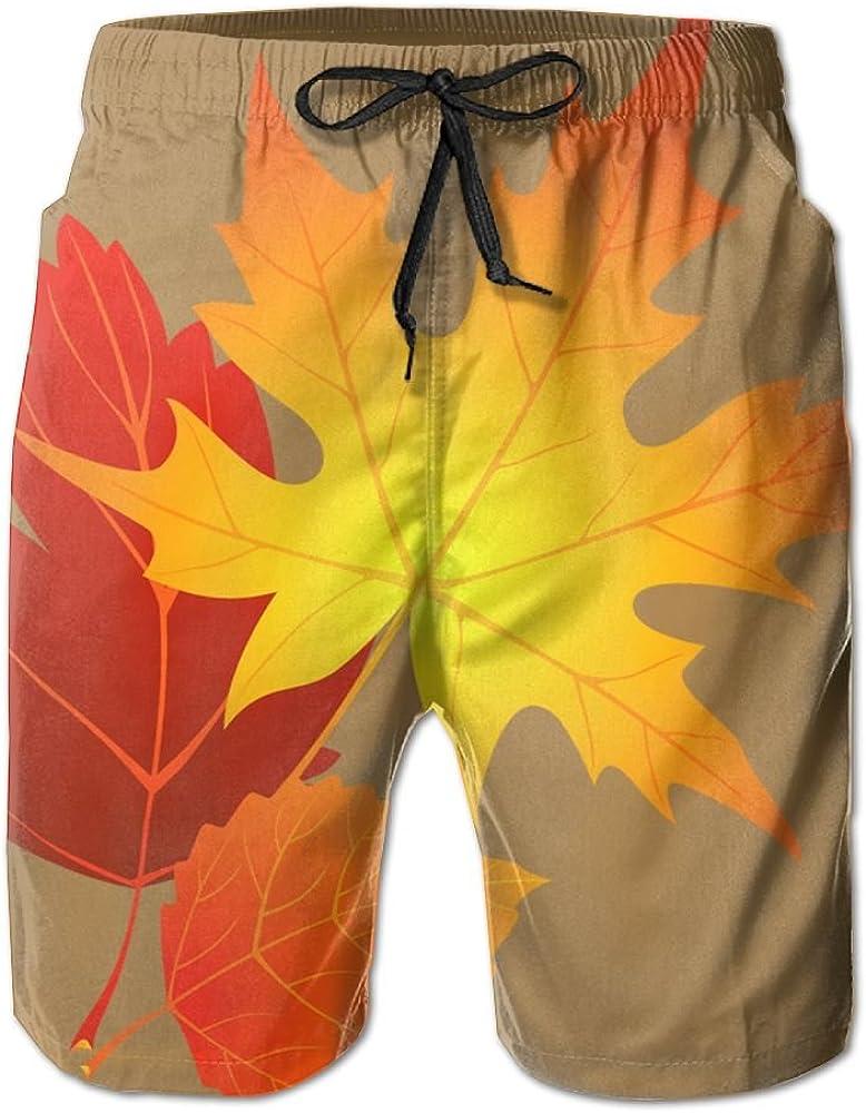 YOIGNG Boardshorts Maple Leaf Canadian Mens Quick Dry Swim Trunks Beach Shorts