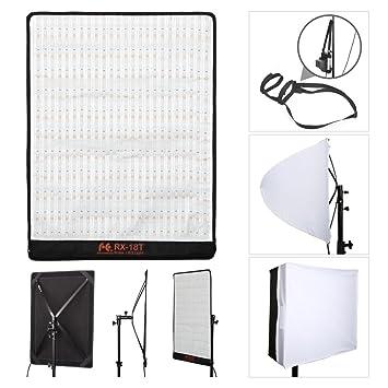 falcon eyes rx 18t video light kit set led panel waterproof flexible studio light for