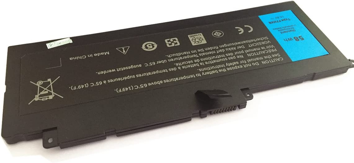 7xinbox 14.8V 58WH F7HVR Replacement Battery for Dell Inspiron 17 ...