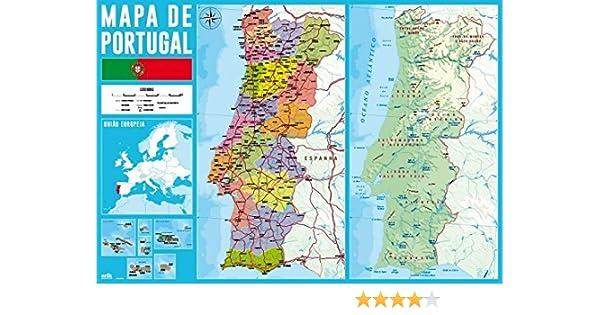 Grupo Erik Editores Vade Escolar Mapa De Portugal: Amazon.es: Oficina y papelería