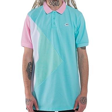 c711f3e6 Pink Dolphin Men's Tsunami Waves Polo SS Shirt Light Blue XL: Amazon ...
