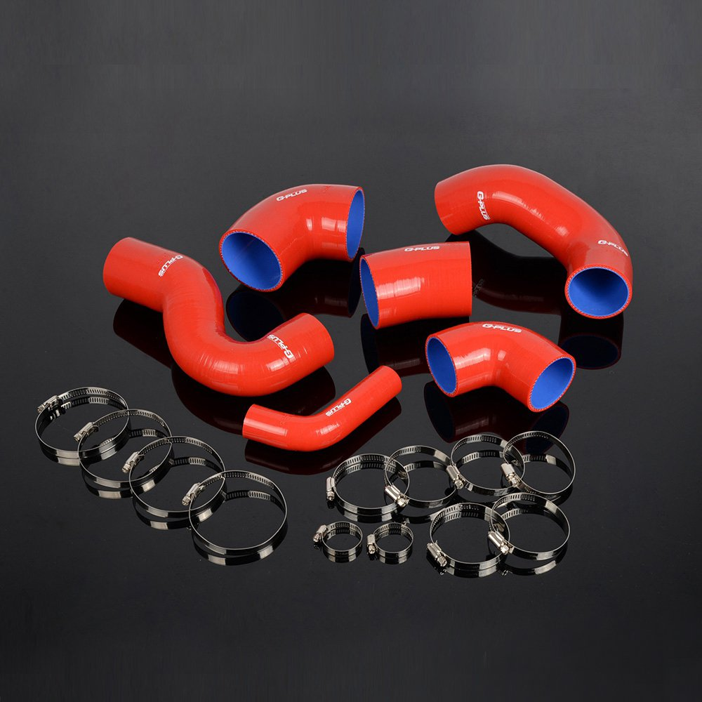Amazon.com: Gplus For FIAT COUPE 2.0 20V GT TURBO Silicone Turbo Hose Clamps Pipe Kit Red: Automotive