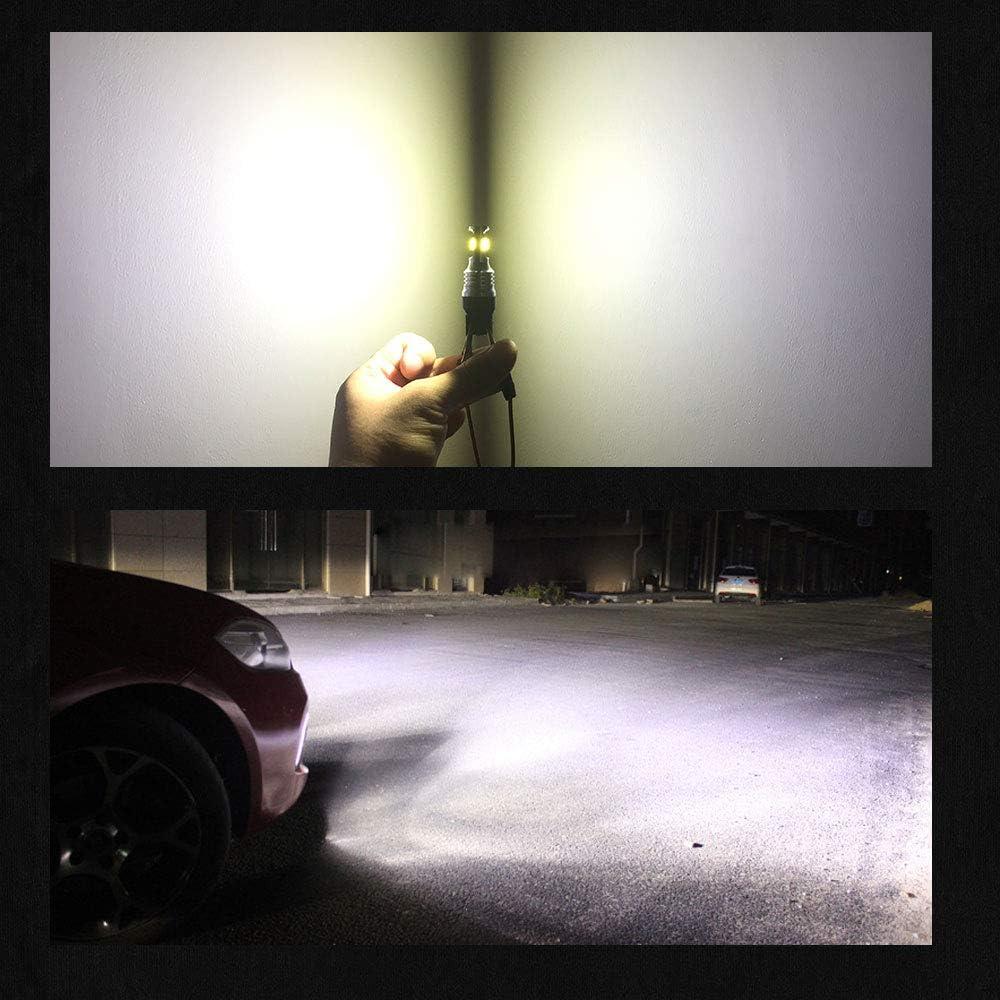 Auto Fog Light LED Fog Bulb Foglight DRL Light Led Daytime Running Lights BMTxms Canbus H3 LED Bulb Fog Lights 2Pcs H3 2SMD, Crystal Blue