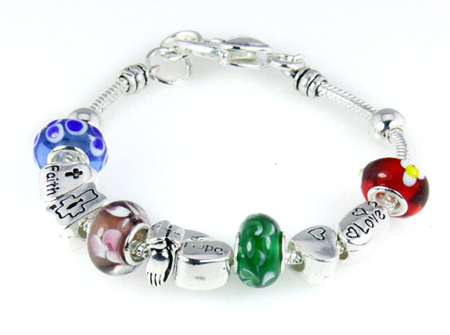 greeting alphabet hello pin weekend glass beads bead bracelet