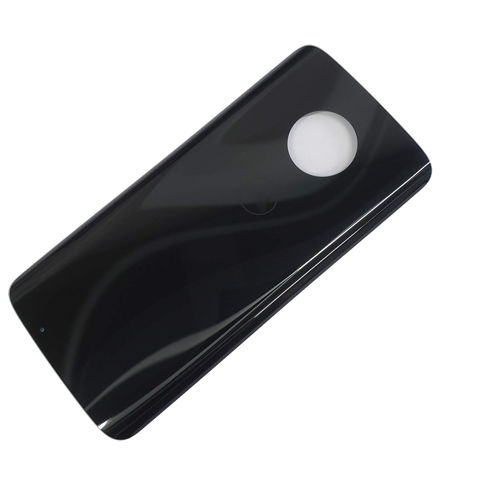 Eaglewireless Compatible Rear Panel Cover Back Glass Replacement Parts with Tape for Motorola Moto G6 XT1925 XT1925-6-Black by Eaglewireless