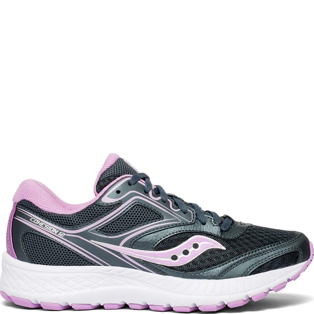 Saucony Women's VERSAFOAM Cohesion 12 Road Running Shoe, Slate/Violet, 7.5 M US by Saucony