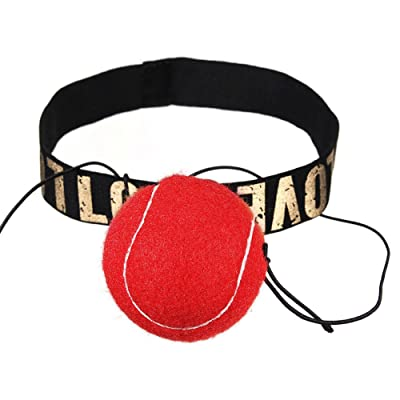 ZREAL Balle de combat et bandeau de tête pour la formation de vitesse de réaction réflexe Exercice de boxe de poinçon