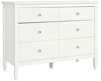 Dorel Living Vivienne 6 Drawer Dresser White
