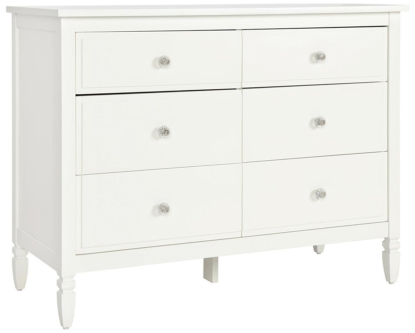 Dorel Living Vivienne 6-Drawer Dresser, White