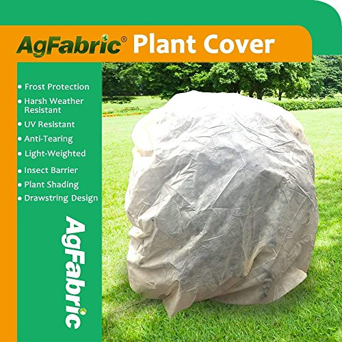 """Agfabric Warm Worth Frost Blanket – 0.95 oz Fabric of HH48""""xW55""""Shrub Jacket, Plant Cover for Frost Protection with Leaves Pattern"""