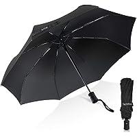 Umbrella,TechRise Classic Windproof Automatic Folding Compact Travel Umbrella One Button Auto Open and Close - Black