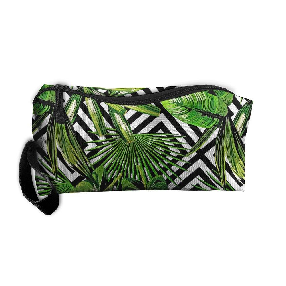 frtsflee Banana Leavesペンケース旅行化粧品バッグ受信バッグ鉛筆バッグ耐久性ポーチジッパーBig容量Traveメイクアップオーガナイザーバッグ   B07DPHSM8R