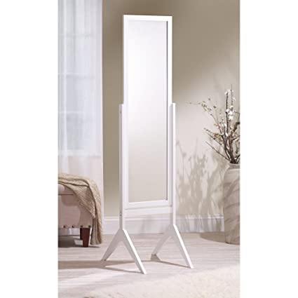 Amazon.com: Mirrotek Adjustable Free Standing Tilt Full Length Body Floor  Mirror, Cheval Style Tall Mirror, White: Home U0026 Kitchen