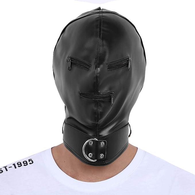 Freebily Unisexo Máscara Facial Completo Erótica de Cuero Sueva Ajustable Coslay de rol Máscara de Campana