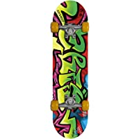 Gemgo 9 Plies Skateboard Deck, Adults Kids Skateboard,Complete Board with ABEC-7 Bearing 9-Layer 80A Maple Deck Sturdy Skateboarding with Skull Pattern for Beginners and Professionals