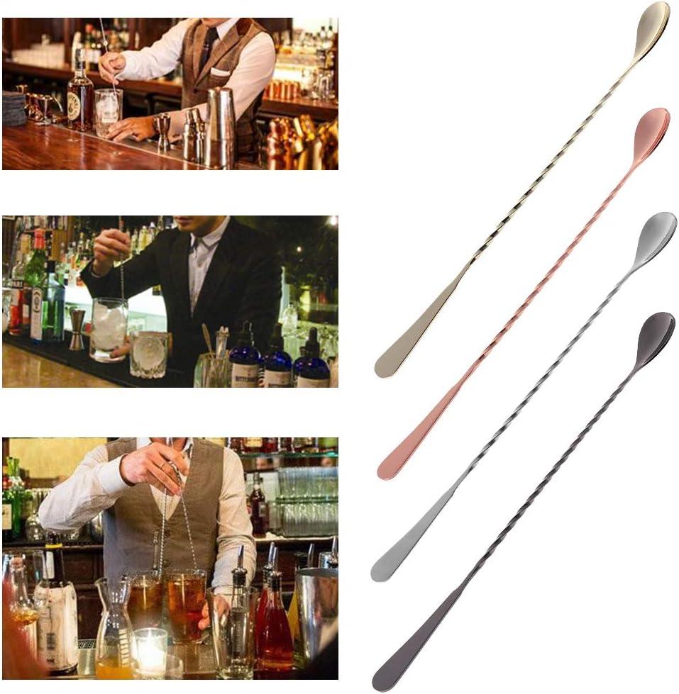 SimpleLife Cocktail Stirring Spoon Stainless Steel Muddler Threaded Bar Strumento Swizzle Stick