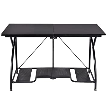 Amazoncom Tangkula Modern Folding Computer Desk Home Office