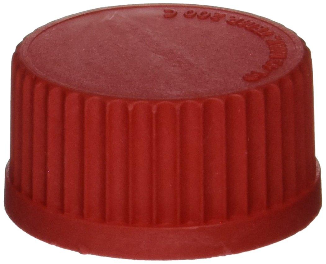 Red GL45 Thread Size Pack of 10 Benchmark Scientific Hybex B3000-CAP-HTC Polypropylene High Temperature Cap for Media Storage Bottle