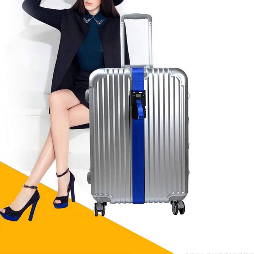 Blue 3in1 Travel Luggage Scale-Code TSA Lock-Suitcase Strap Belt-Digital Hanging Baggage Weighing Scales