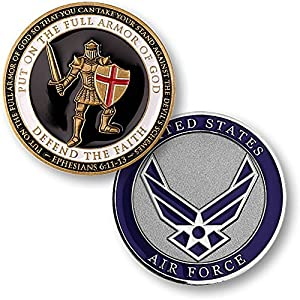 U.S. Air Force Armor of God Challenge Coin from Armed Forces Depot