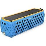 Dreamix ワイヤレス ポータブル Bluetooth 4.0 スピーカー 太陽光で充電可能 IP65 防水対応屋外スポーツ用